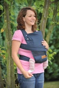 3. Babytrage Test - Marsupi 144-44-59-001 Baby und Kindertrage die kompakte Bauch und Hüfttrage, genial einfach